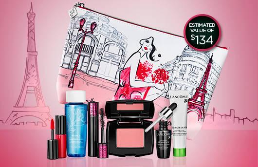 Lancome Canada Promo Code Free Makeup Pouch 7 Piece