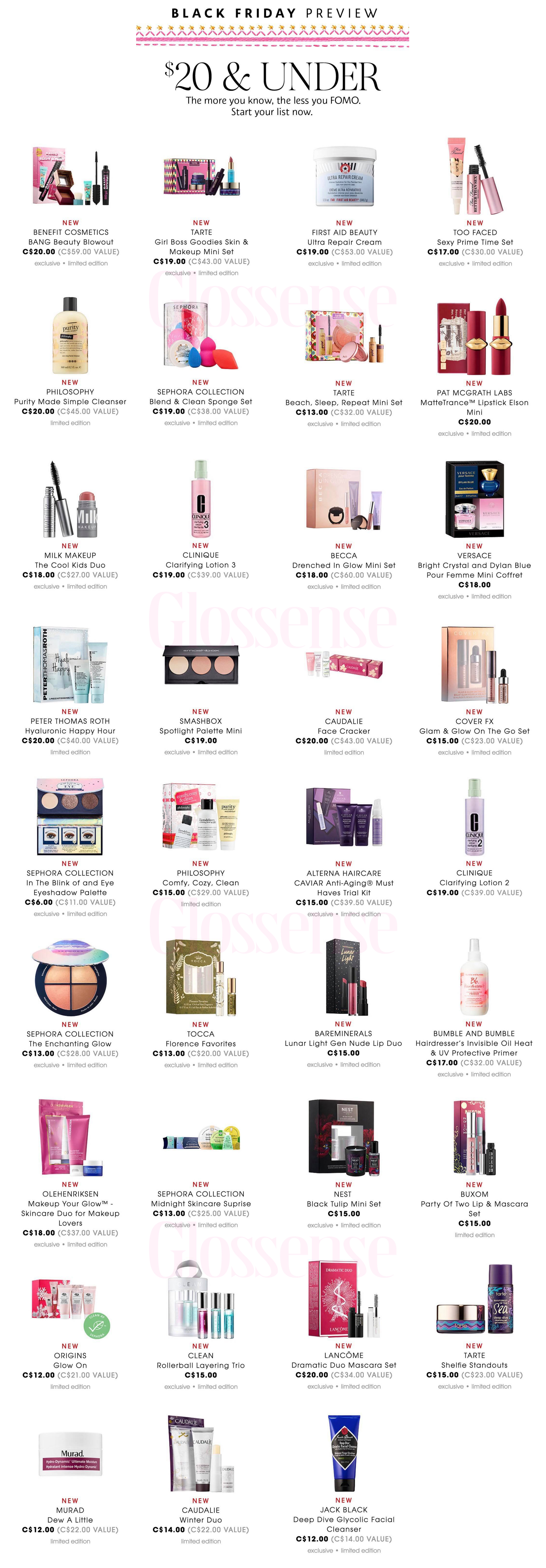 Sephora Canada Black Friday Full Preview Details 20 Under Canadian Deals Coming November 23 2018