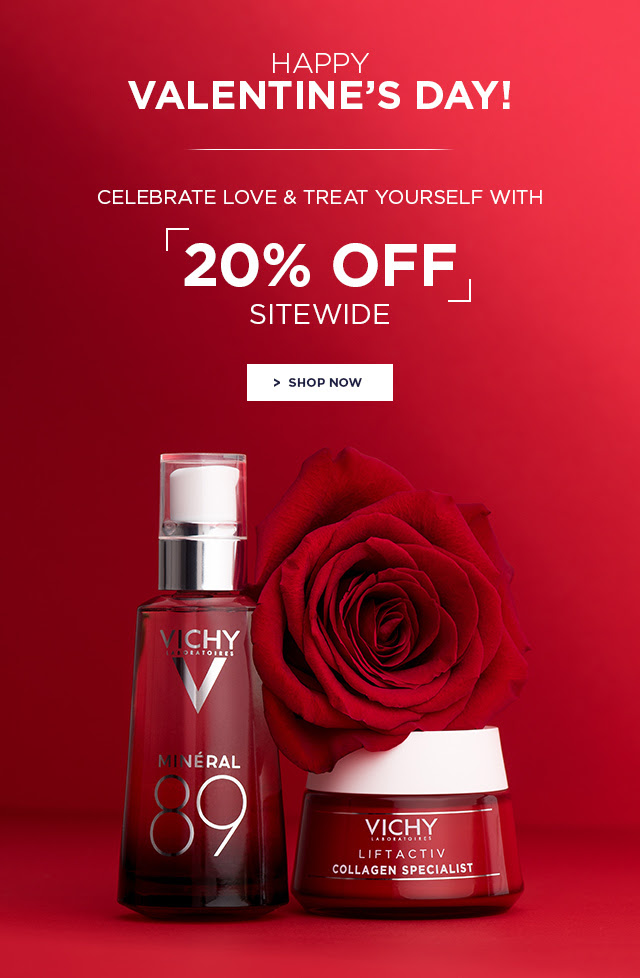 VICHY CANADA HOT CANADIAN DEALS: 20% Off Sitewide + 14% Cash Back | 2019 Valentine's Day Promotions