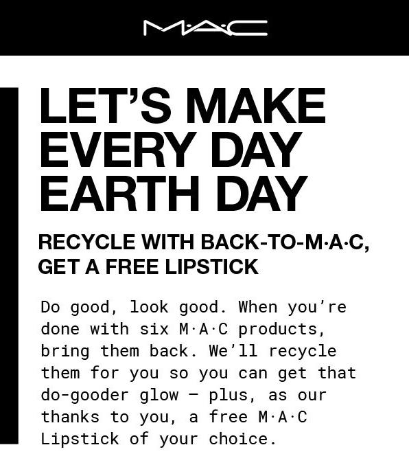 Mac Cosmetics Canada Back To Free