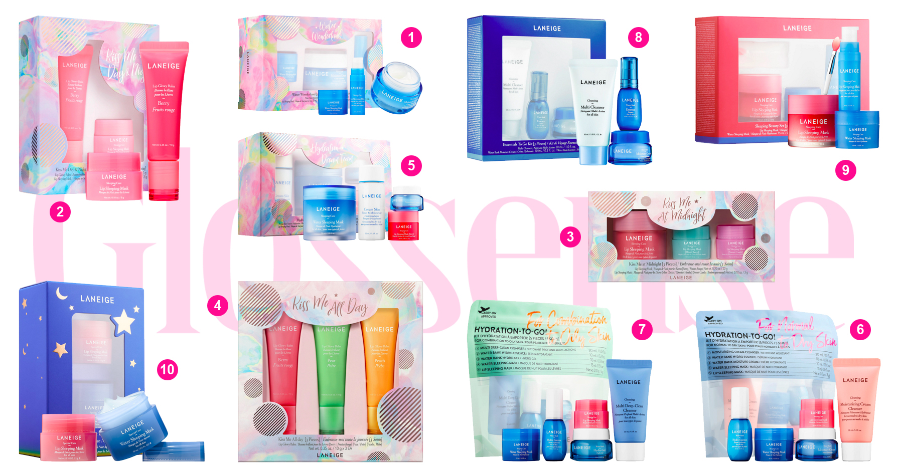 Sephora Canada Laneige 2019 Christmas Holiday Collection Skincare Kiss Me Gift Sets Canadian New Releases Gift Ideas